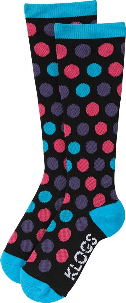Women's Klogs Trouser Compression Sock, Multi Vivid Blue Dots, large, image 2