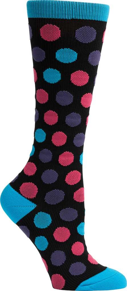 Women's Klogs Trouser Compression Sock, Multi Vivid Blue Dots, large, image 3