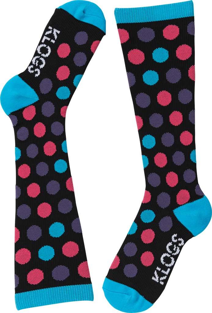 Women's Klogs Trouser Compression Sock, Multi Vivid Blue Dots, large, image 4