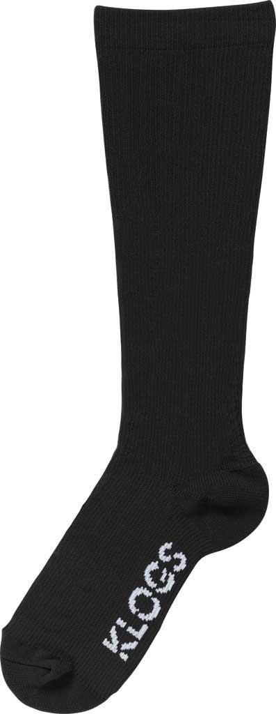 Women's Klogs Trouser Compression Sock, Solid Black, large, image 1