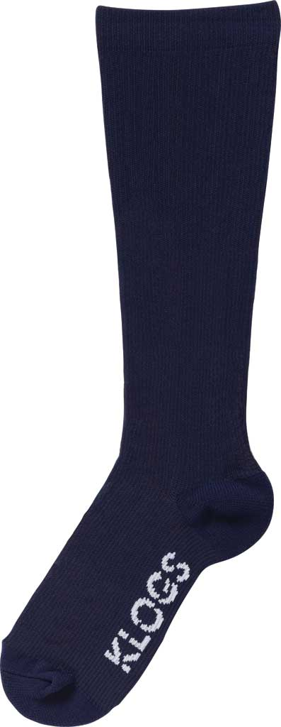 Women's Klogs Trouser Compression Sock, Solid Navy, large, image 1
