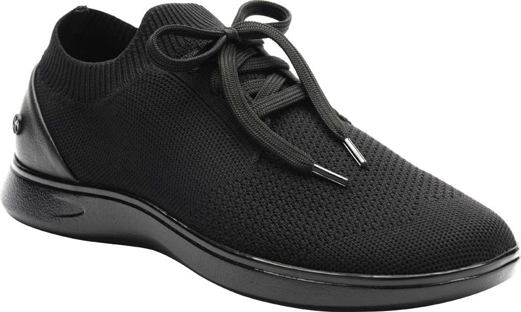 Women's Klogs Hadley Sneaker, Black/Black Knit, large, image 1