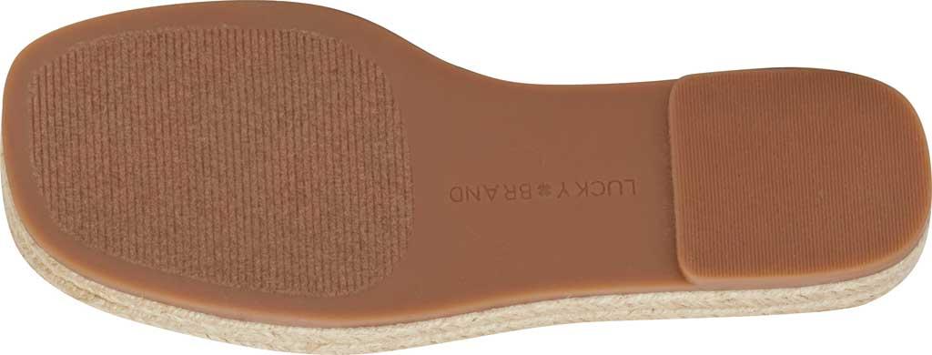 Women's Lucky Brand Gayte Flatform Slide, Dark Denim Tie Dye Distressed Canvas/Cotton, large, image 7