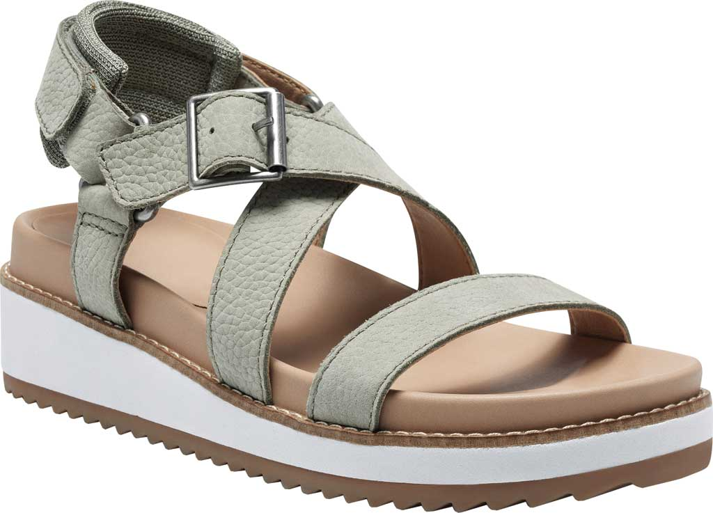Women's Lucky Brand Idenia Wedge Strappy Sandal, Seagrass Embossed Nubuck, large, image 1