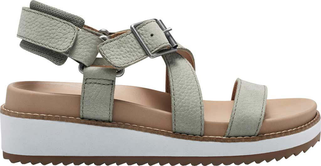 Women's Lucky Brand Idenia Wedge Strappy Sandal, Seagrass Embossed Nubuck, large, image 2