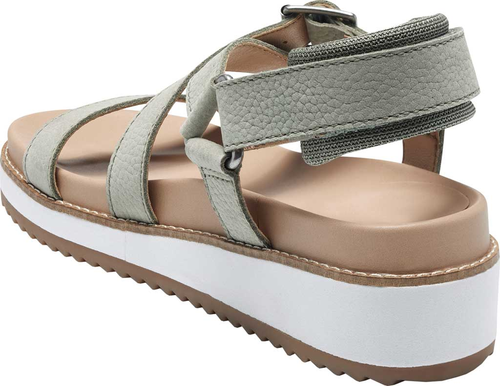 Women's Lucky Brand Idenia Wedge Strappy Sandal, Seagrass Embossed Nubuck, large, image 3