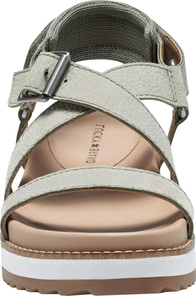 Women's Lucky Brand Idenia Wedge Strappy Sandal, Seagrass Embossed Nubuck, large, image 4