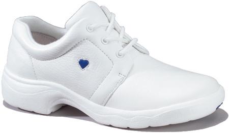 Women's Nurse Mates Angel, White Leather, large, image 1