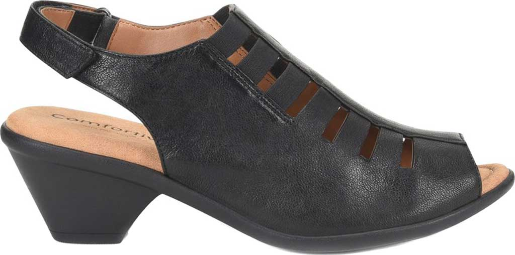 Women's Comfortiva Faye Slingback, Black Full Grain Leather, large, image 2