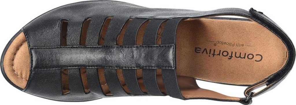 Women's Comfortiva Faye Slingback, Black Full Grain Leather, large, image 3
