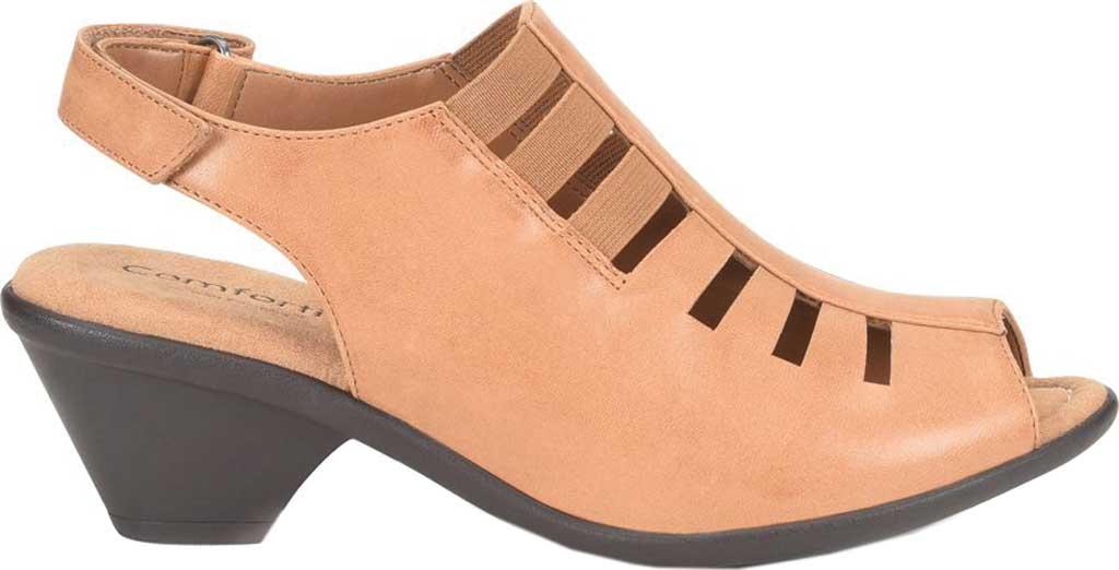 Women's Comfortiva Faye Slingback, Desert Tan Full Grain Leather, large, image 2