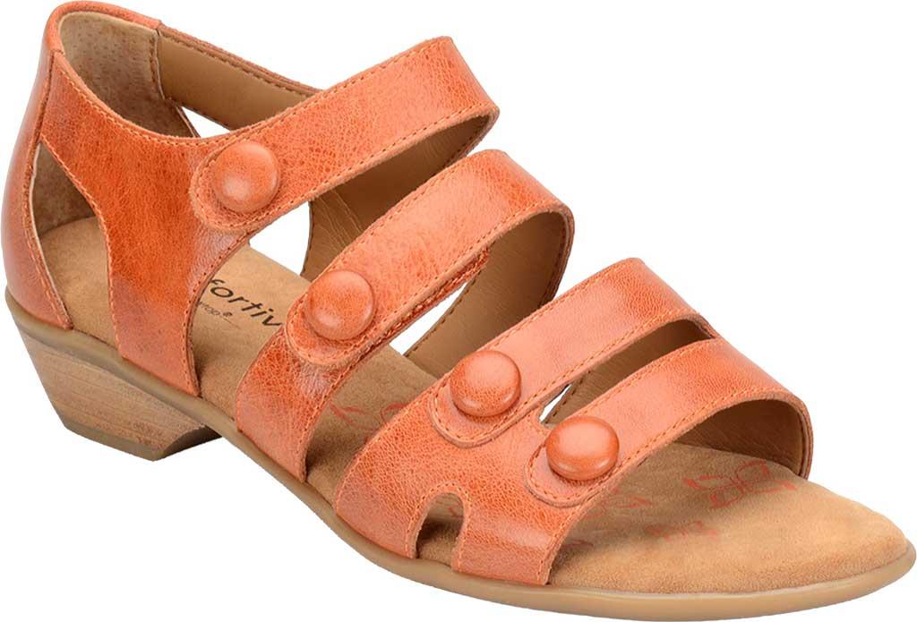 Women's Comfortiva Reading Strappy Sandal, Poppy Orange Montana Leather, large, image 1