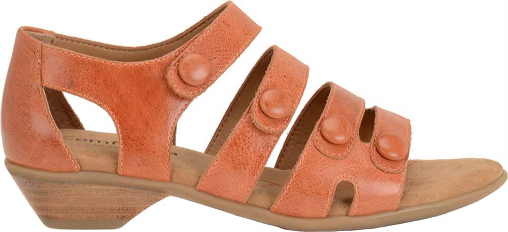 Women's Comfortiva Reading Strappy Sandal, Poppy Orange Montana Leather, large, image 2