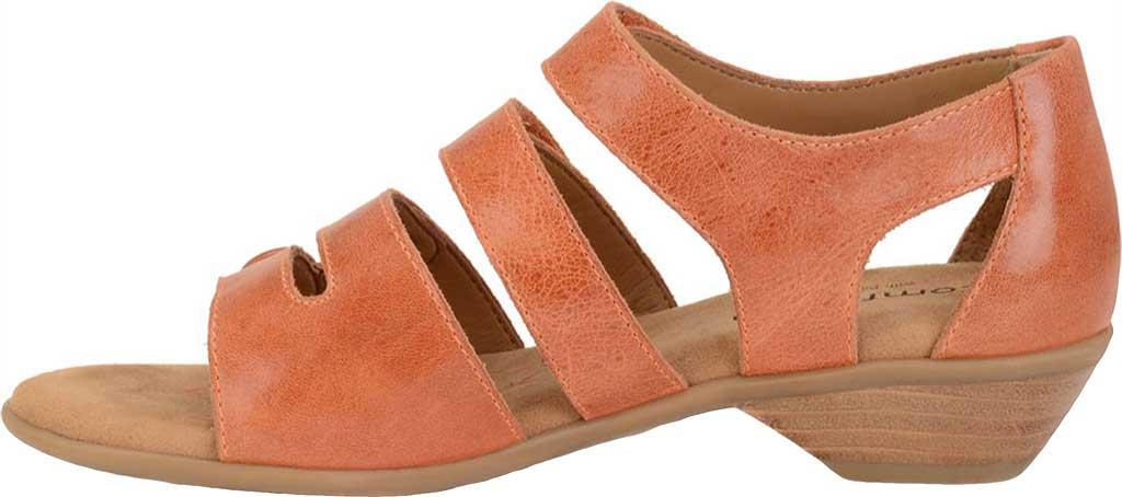 Women's Comfortiva Reading Strappy Sandal, Poppy Orange Montana Leather, large, image 3