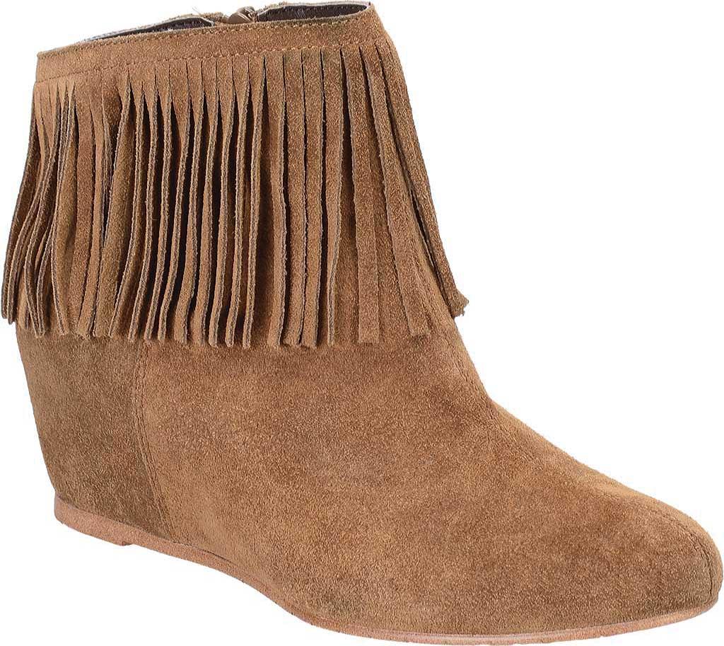Women's Comfortiva Riverton Fringed Ankle Boot, Desert Tan Velour Suede, large, image 1