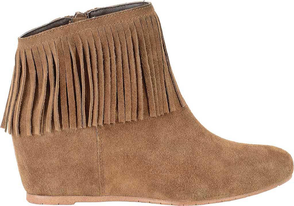 Women's Comfortiva Riverton Fringed Ankle Boot, Desert Tan Velour Suede, large, image 2