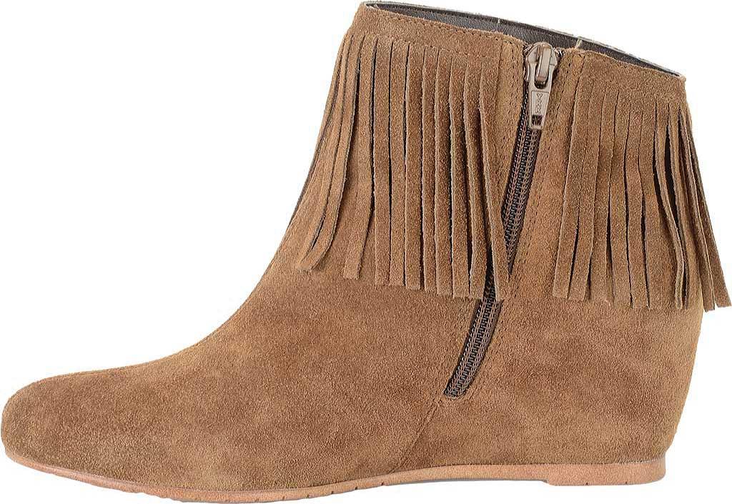 Women's Comfortiva Riverton Fringed Ankle Boot, Desert Tan Velour Suede, large, image 3