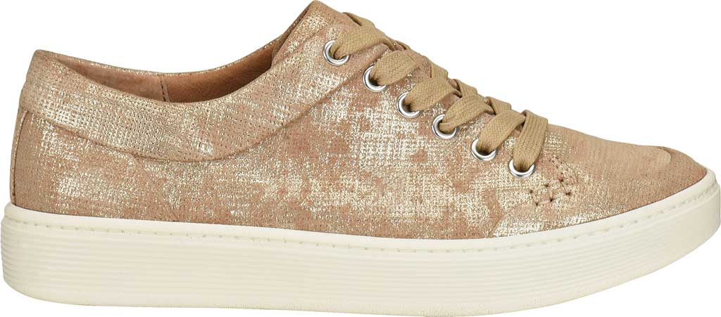 Women's Sofft Sanders Sneaker, Platino Distressed Metallic Suede, large, image 2