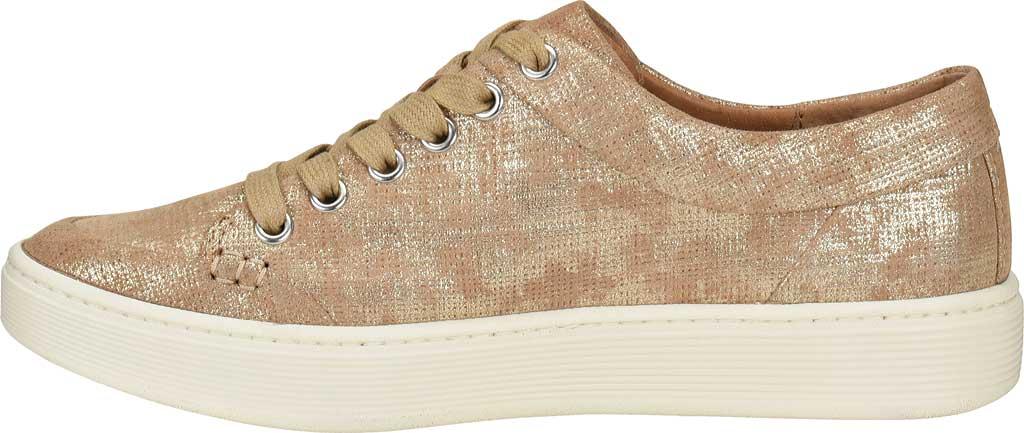 Women's Sofft Sanders Sneaker, Platino Distressed Metallic Suede, large, image 3