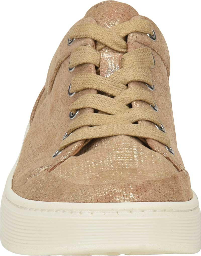 Women's Sofft Sanders Sneaker, Platino Distressed Metallic Suede, large, image 4