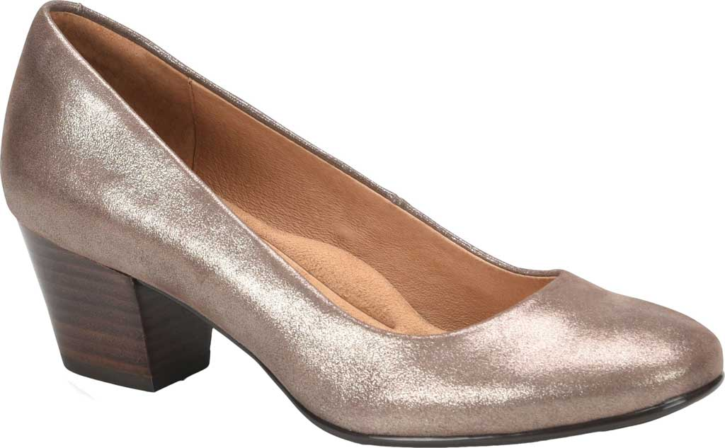 Women's Sofft Lindon Pump, Metallic Taupe Leather, large, image 1