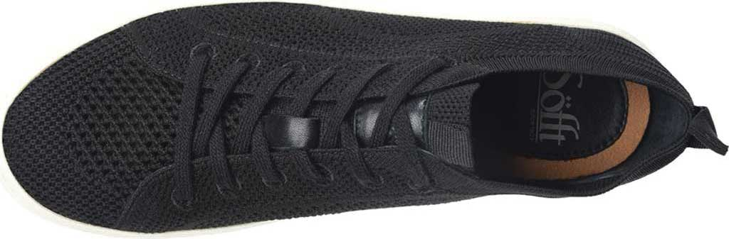 Women's Sofft Somers Knit Sneaker, Black Knit/Mesh, large, image 3