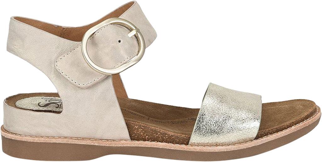 Women's Sofft Bali Ankle Strap Sandal, Light Grey/Platino Euforia/Nuvola Metallic Leather, large, image 2