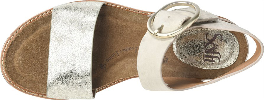 Women's Sofft Bali Ankle Strap Sandal, Light Grey/Platino Euforia/Nuvola Metallic Leather, large, image 3