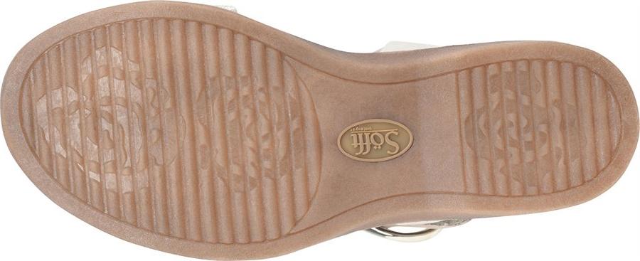 Women's Sofft Bali Ankle Strap Sandal, Light Grey/Platino Euforia/Nuvola Metallic Leather, large, image 4