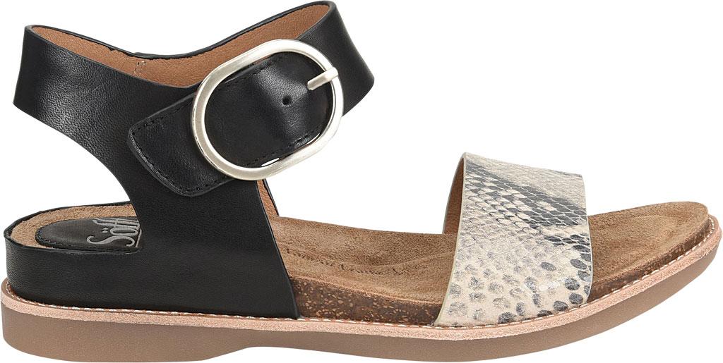 Women's Sofft Bali Ankle Strap Sandal, Black/Black/Cream Leather/Metallic Leather, large, image 2