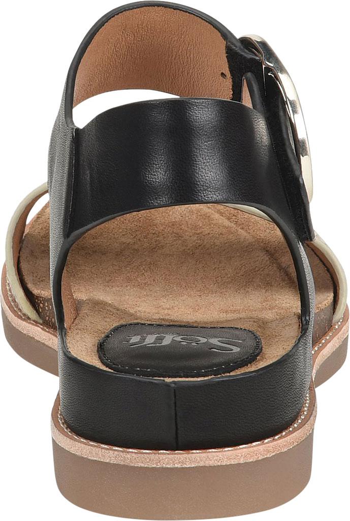 Women's Sofft Bali Ankle Strap Sandal, Black/Black/Cream Leather/Metallic Leather, large, image 4