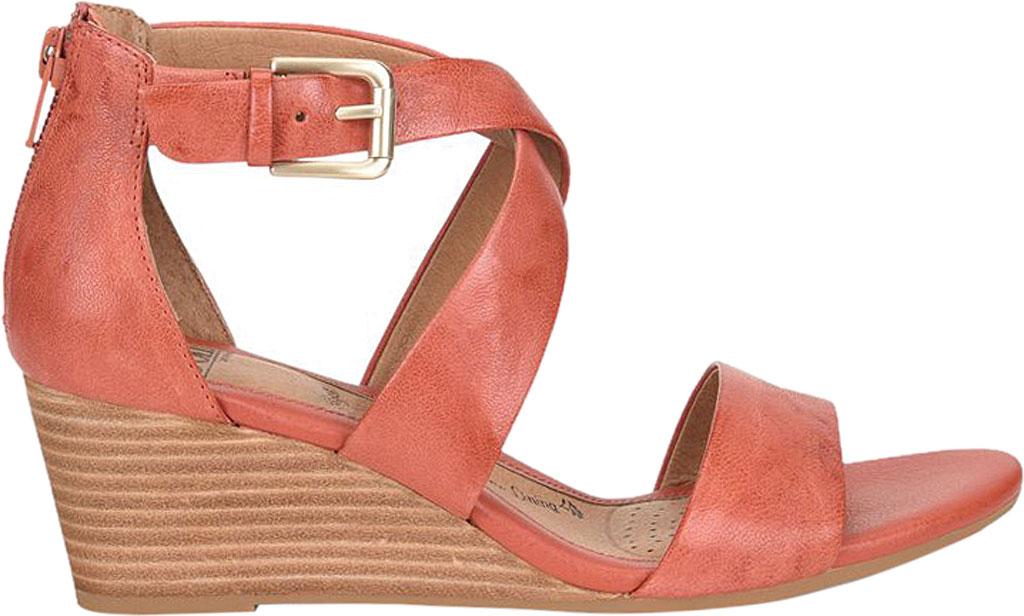 Women's Sofft Mauldin Strappy Wedge Sandal, Mango Smooth Leather, large, image 2