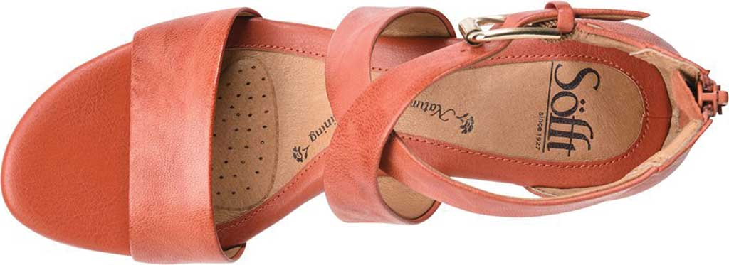Women's Sofft Mauldin Strappy Wedge Sandal, Mango Smooth Leather, large, image 3
