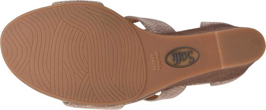 Women's Sofft Mauldin Strappy Wedge Sandal, Taupe Metallic Leather, large, image 4