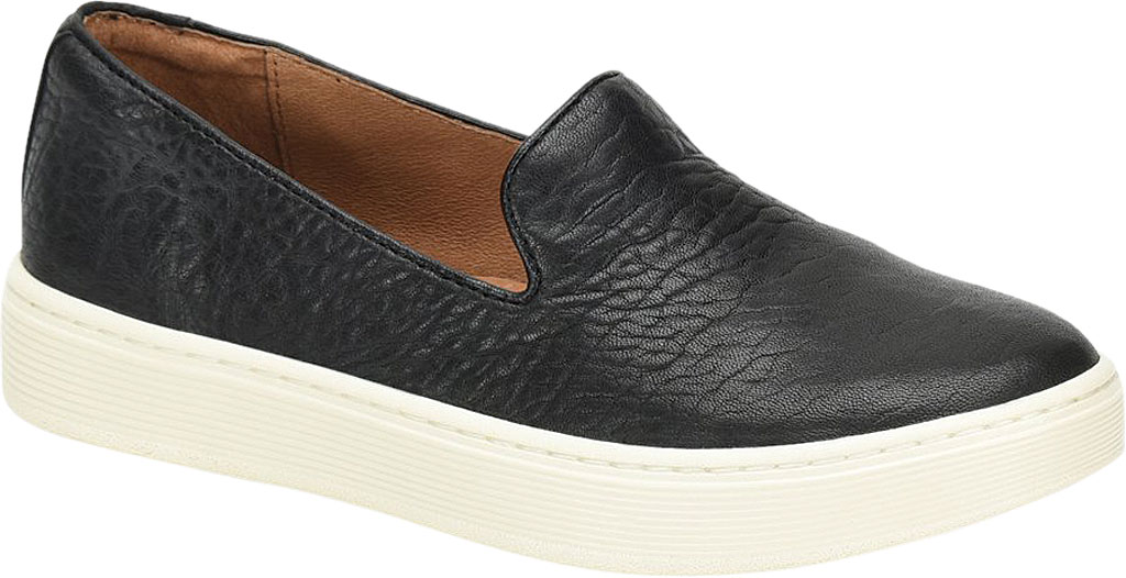 Women's Sofft Somers Slip-On Sneaker, Black Tumbled Smooth Leather, large, image 1