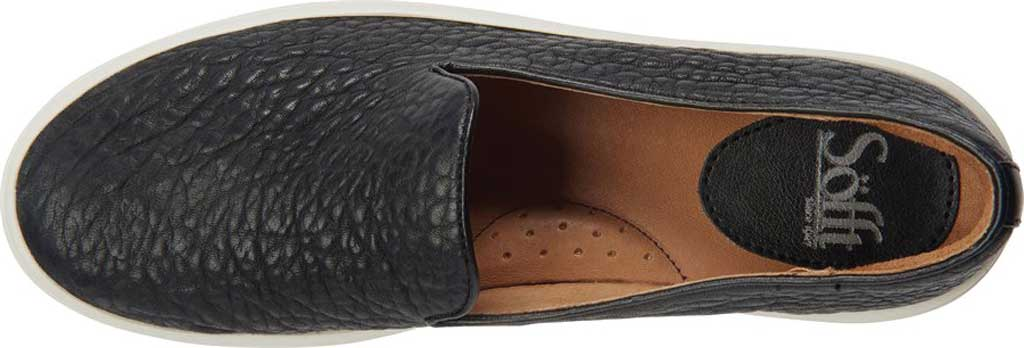 Women's Sofft Somers Slip-On Sneaker, Black Tumbled Smooth Leather, large, image 4