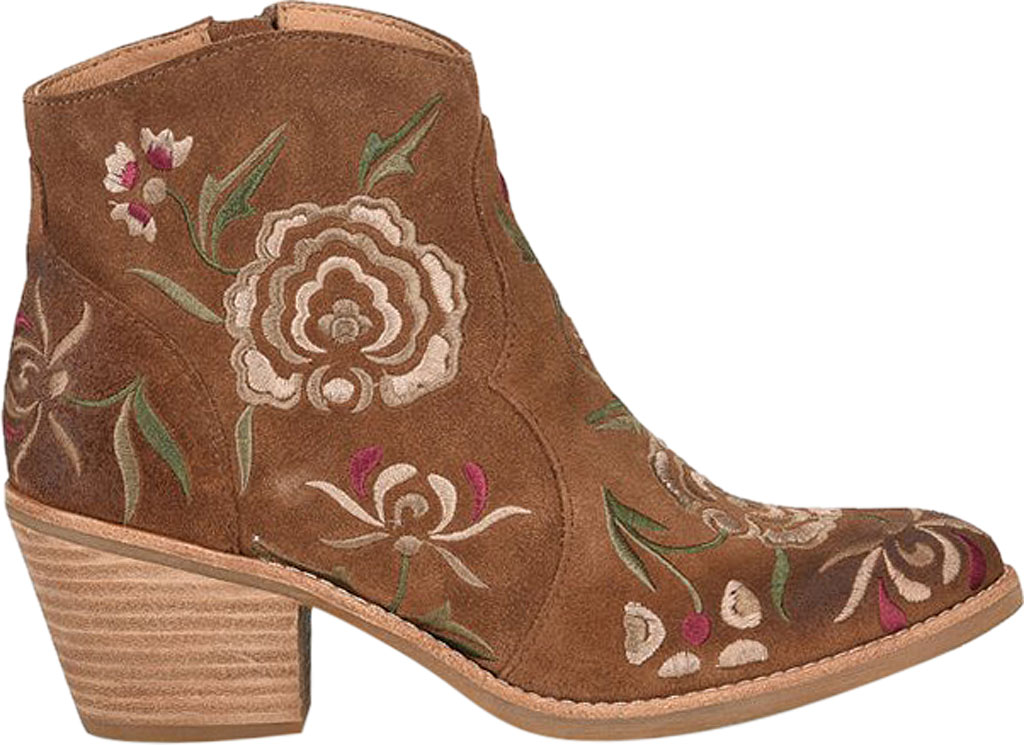 Women's Sofft Westmont II Embroidered Bootie, Light Brown Floral Embroidered Cow Suede, large, image 2