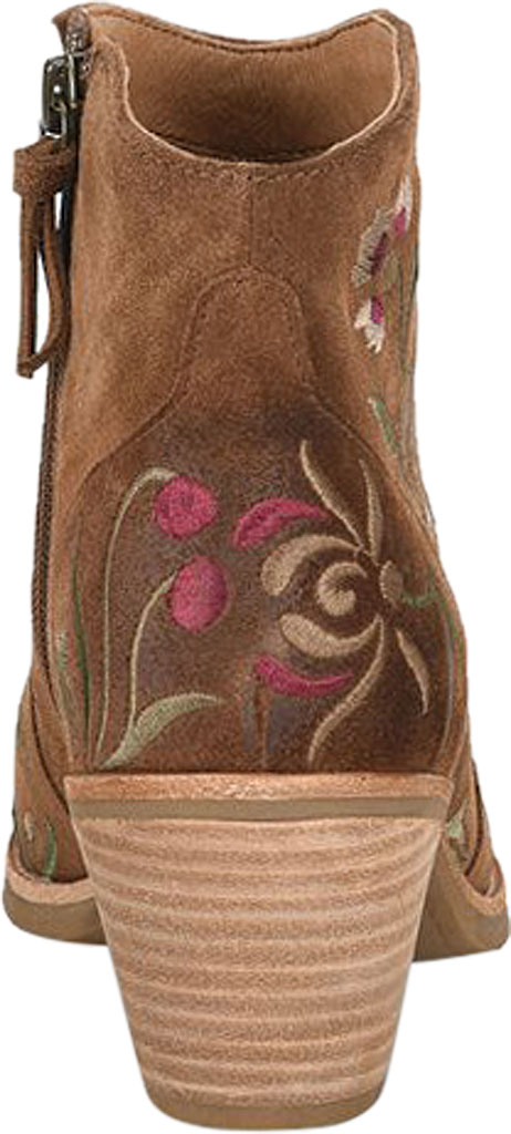 Women's Sofft Westmont II Embroidered Bootie, Light Brown Floral Embroidered Cow Suede, large, image 3