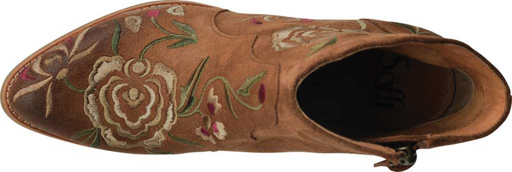 Women's Sofft Westmont II Embroidered Bootie, Light Brown Floral Embroidered Cow Suede, large, image 4