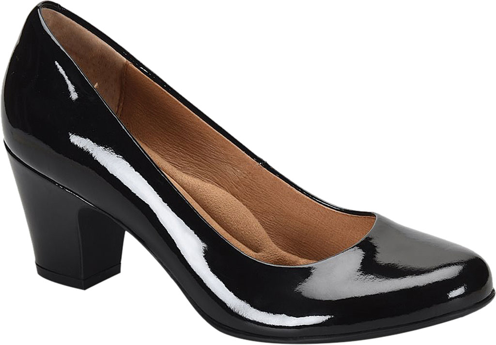 Women's Sofft Myka Pump, Black Patent Leather, large, image 1