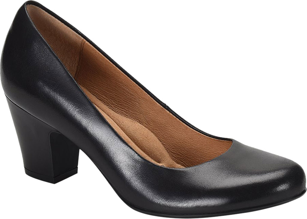 Women's Sofft Myka Pump, Black Smooth Leather, large, image 1