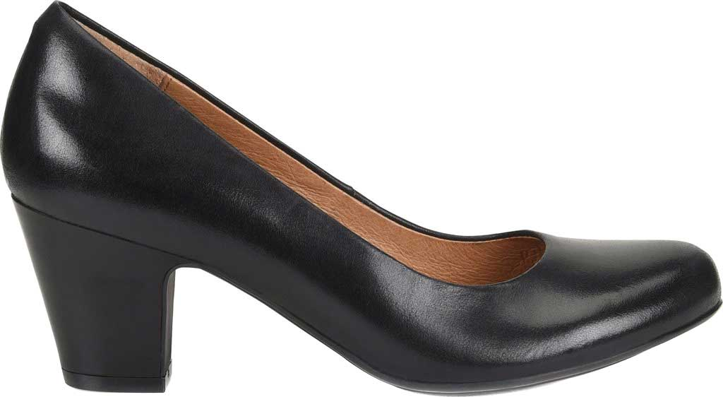 Women's Sofft Myka Pump, Black Smooth Leather, large, image 2