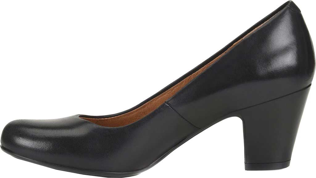 Women's Sofft Myka Pump, Black Smooth Leather, large, image 3
