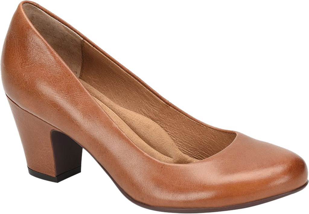 Women's Sofft Myka Pump, Cork Smooth Leather, large, image 1