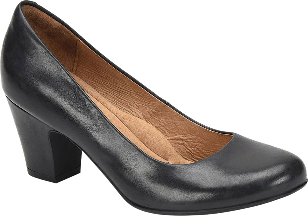Women's Sofft Myka Pump, Navy Smooth Leather, large, image 1