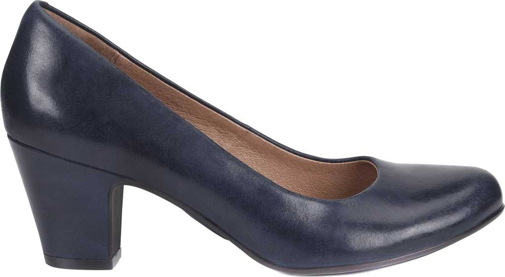 Women's Sofft Myka Pump, Navy Smooth Leather, large, image 2