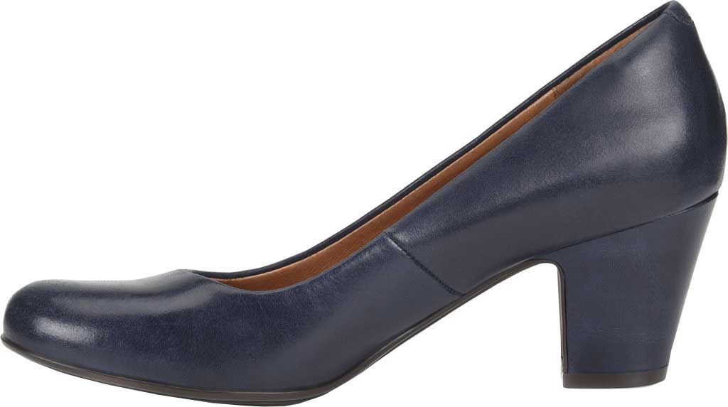 Women's Sofft Myka Pump, Navy Smooth Leather, large, image 3