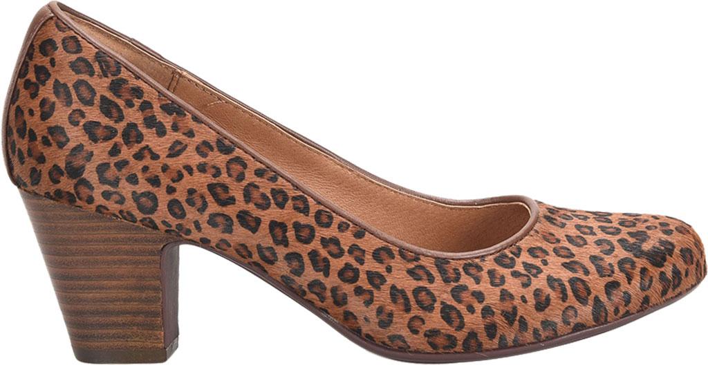 Women's Sofft Myka Pump, Cognac Mini Leopard Horse Hair, large, image 2