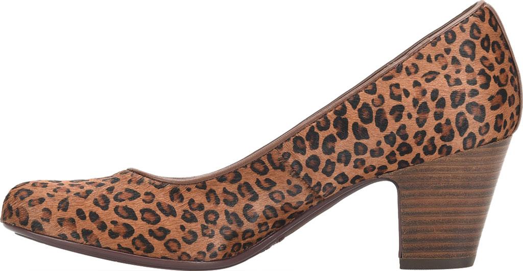 Women's Sofft Myka Pump, Cognac Mini Leopard Horse Hair, large, image 3