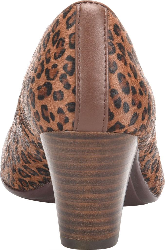 Women's Sofft Myka Pump, Cognac Mini Leopard Horse Hair, large, image 4